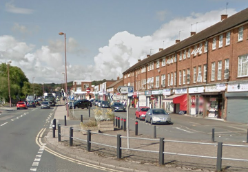 Rubery High Street Google Street View